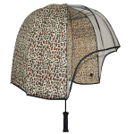 Leopard print windproof umbrella