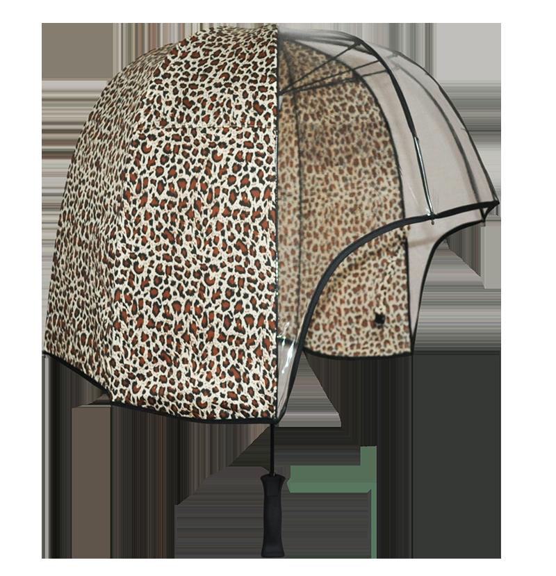 Leopard print windproof umbrella