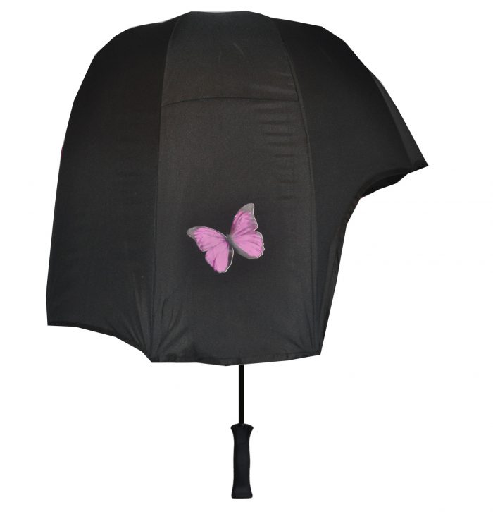 Butterfly print umbrella