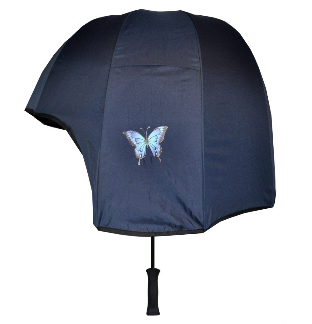 Butterfly print strong umbrella